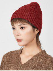 Winter Knitted Rhombic Pattern Hat -