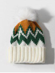 Winter Zigzag Knitted Bubble Hat -