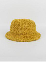 Winter Plush Warm Solid Bucket Hat -