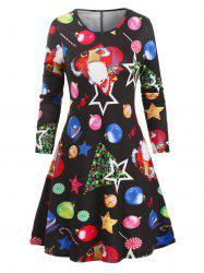 Santa Claus Gifts Christmas A Line Dress -