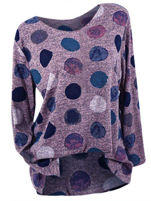 Buy Plus Size Long Sleeve Dotted T-shirt