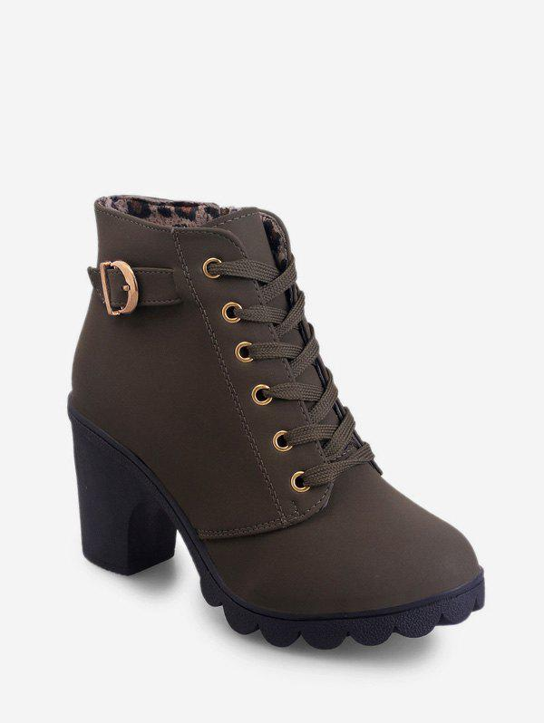 Best Belted Accent Platform High Heel Boots