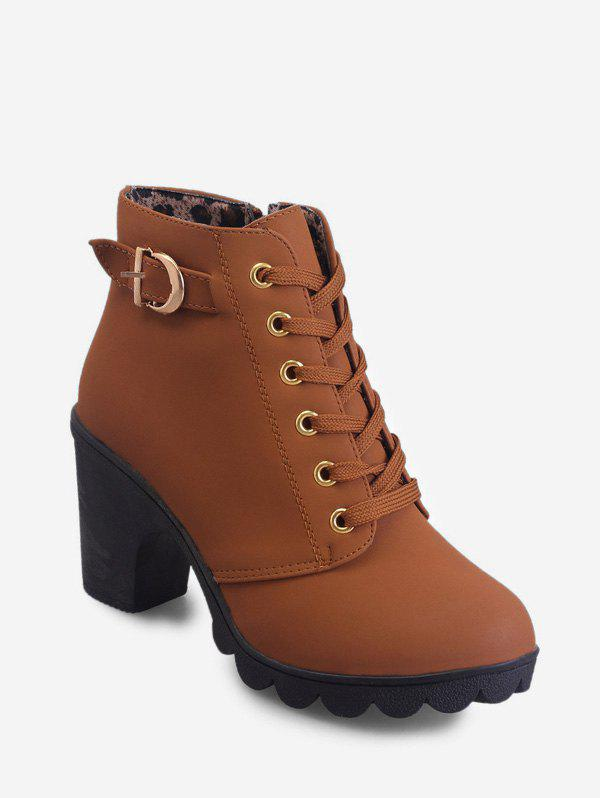 Cheap Belted Accent Platform High Heel Boots