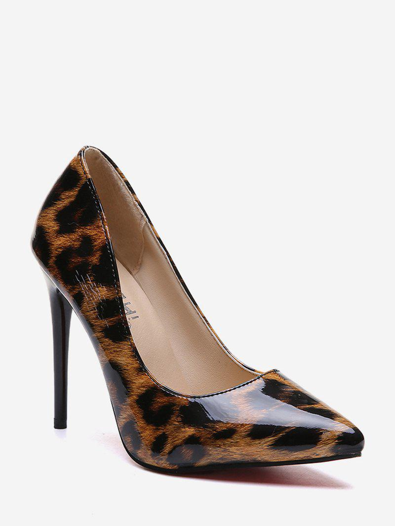 Outfits Stiletto Heel Leopard Pattern PU Leather Pumps
