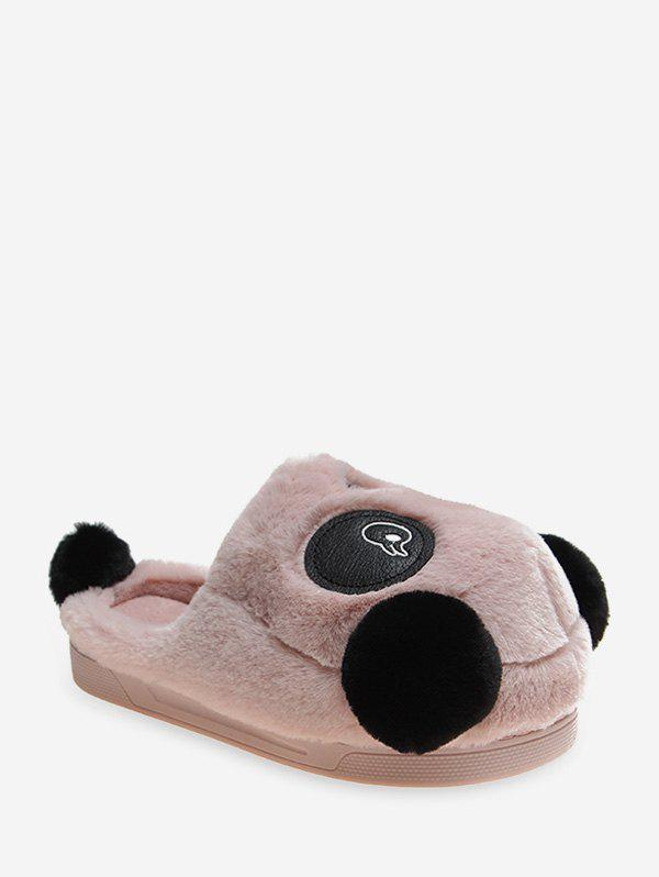 Shops Cute Panda Plush Warm Slippers
