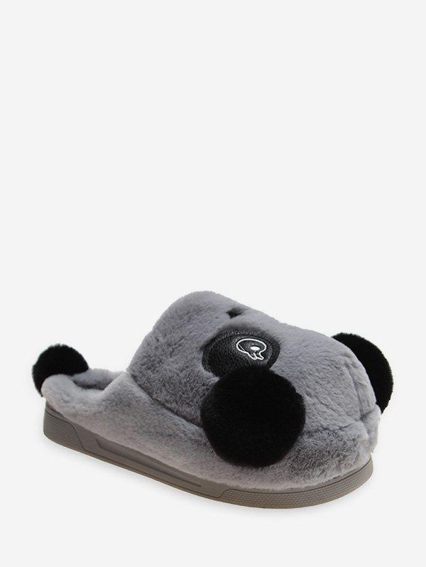 Cheap Cute Panda Plush Warm Slippers