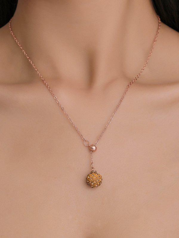 Buy Rhinestone Ball Chain Pendant Necklace