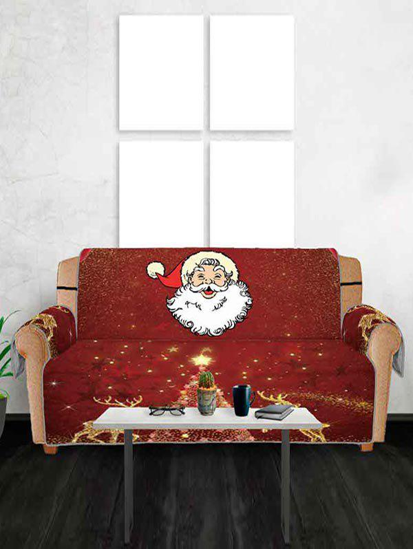 Sale Christmas Deer Santa Claus Design Couch Cover