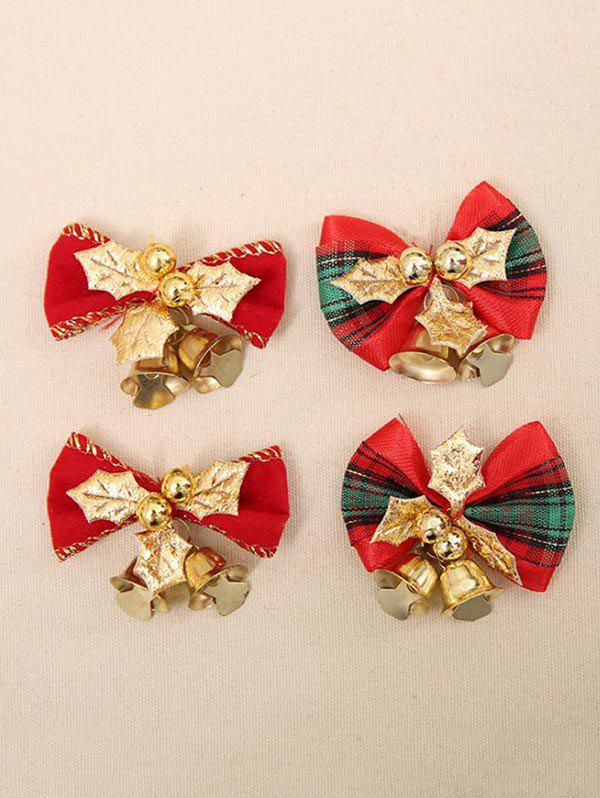 Discount 4 Pcs Christmas Tree Decoration Bowknot Bells