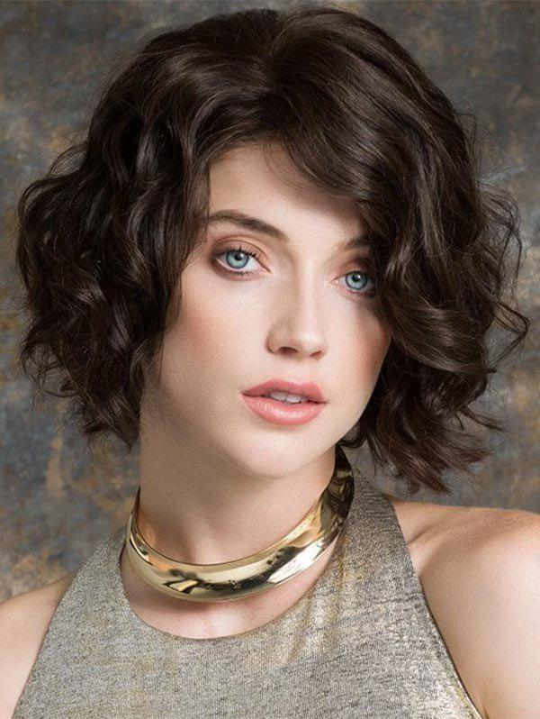 Buy Short Curly Synthetic Side Part Bob Wig