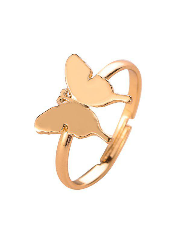 Affordable Brief Metal Butterfly Open Ring