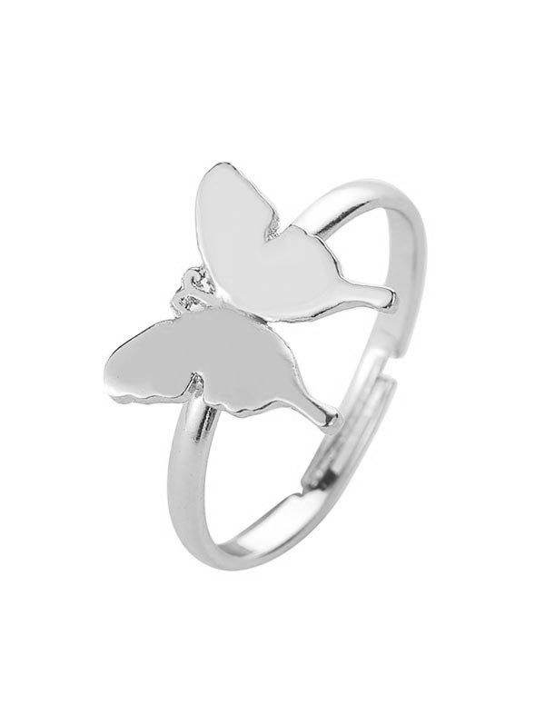 New Brief Metal Butterfly Open Ring