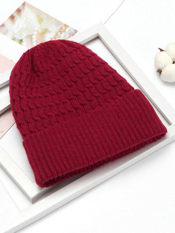 Outfits Simple Braid Pattern Knitted Hat