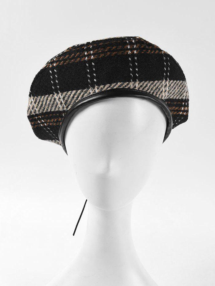 Chic Plaid Pattern Winter Flat Beret Hat