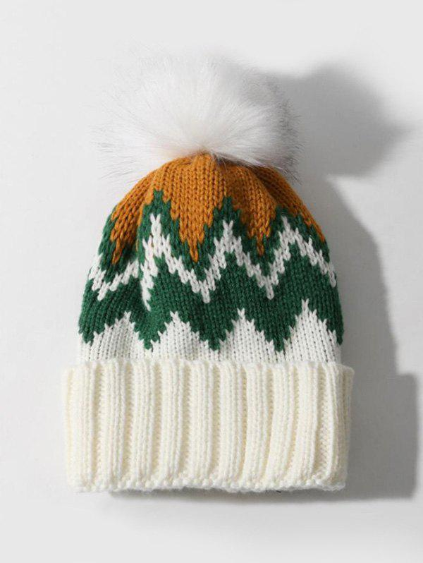 Latest Winter Zigzag Knitted Bubble Hat
