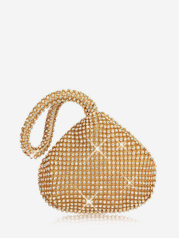 Online Rhinestone Water Drop Clutch Bag