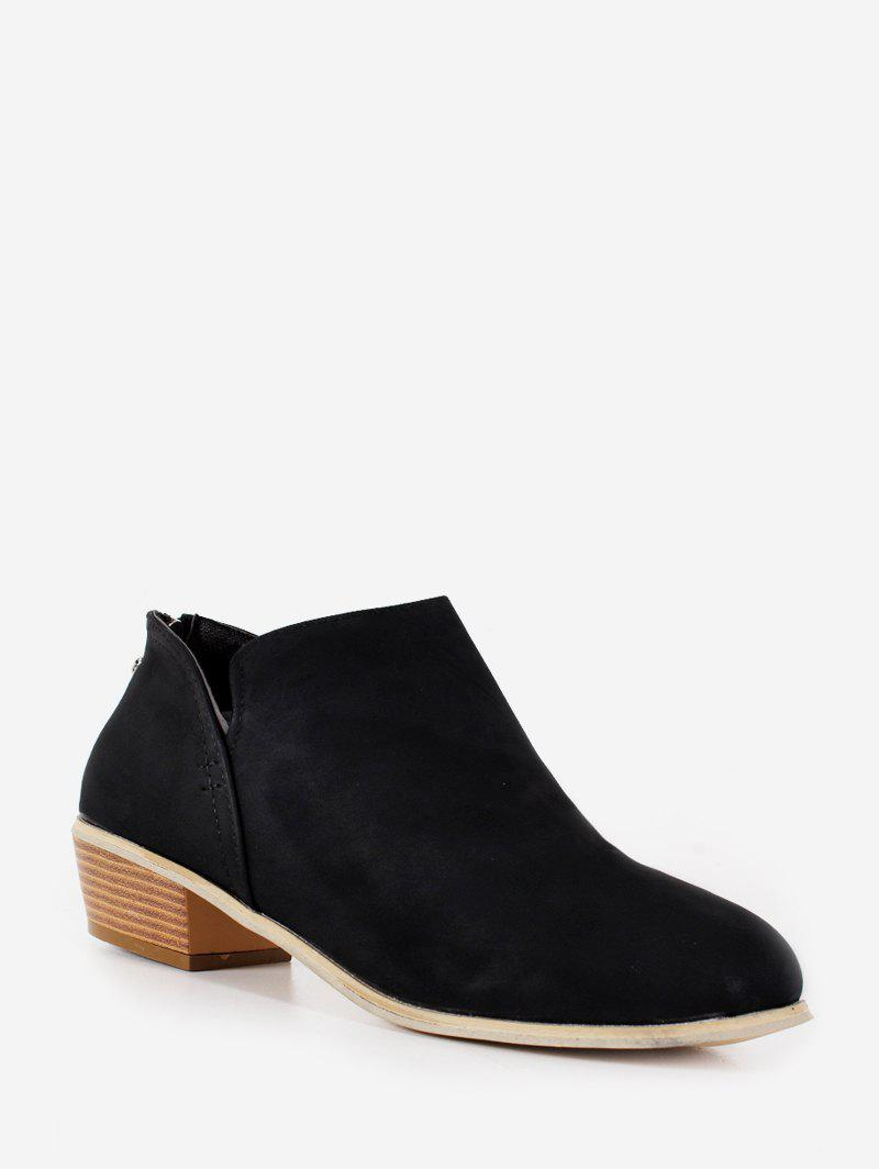 Store Stacked Block Heel Short Boots