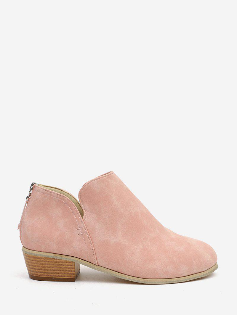 Buy Stacked Block Heel Short Boots