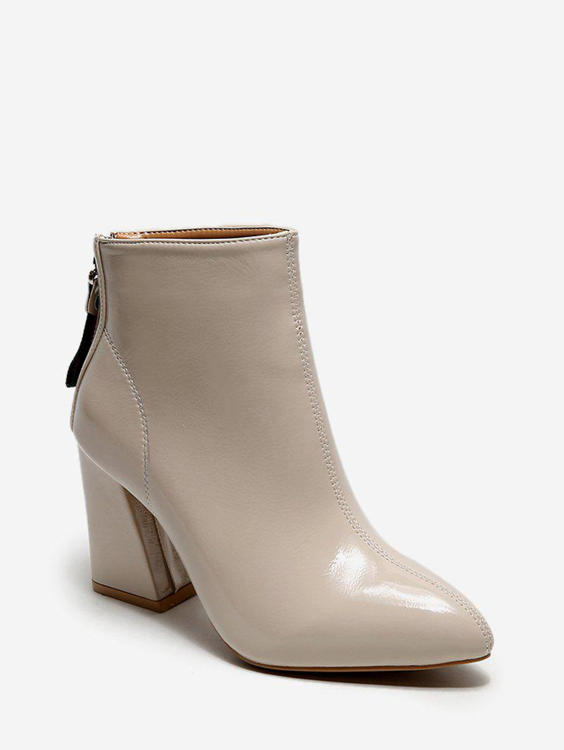 Affordable Plain Pointed Toe High Heel Short Boots