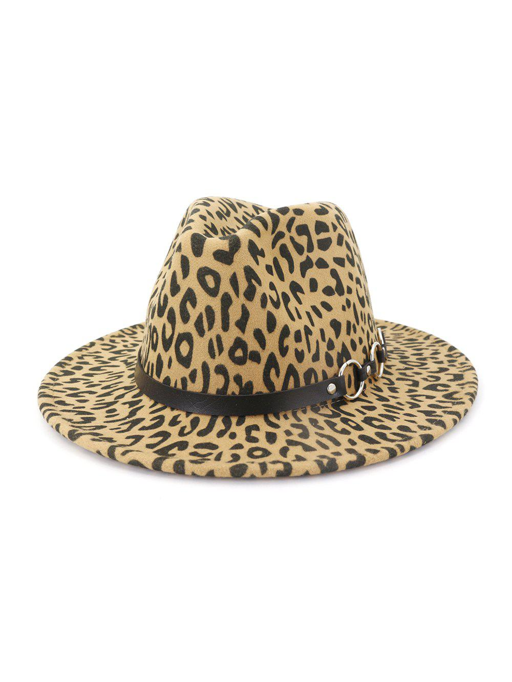 New Leopard Pattern Flat Brim Winter Jazz Hat
