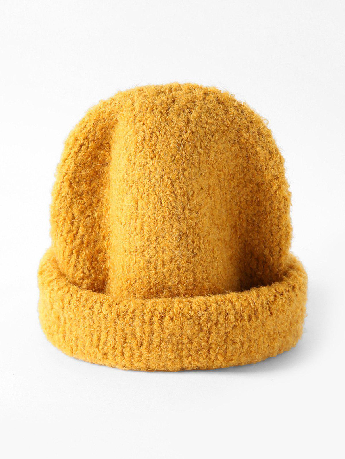 Chic Winter Unisex Solid Knitted Skullcap Hat