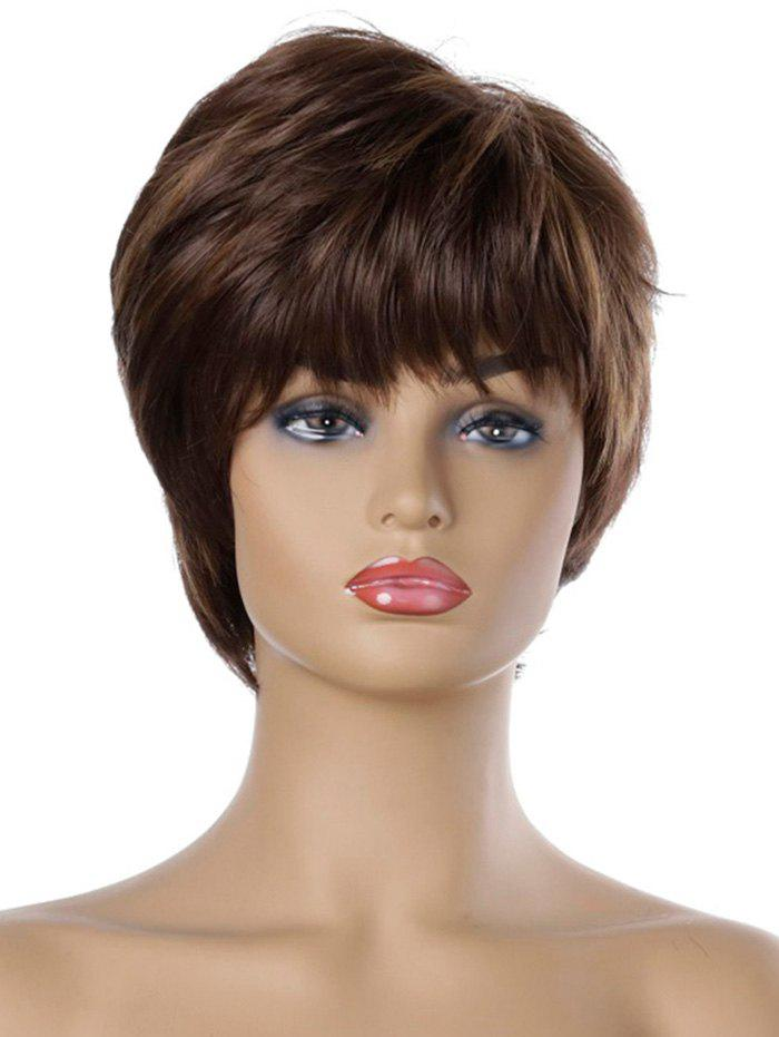 Latest Natural Straight Short Side Bang Synthetic Wig