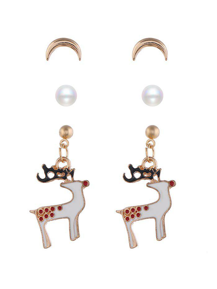 Cheap Deer Snowman Earrings