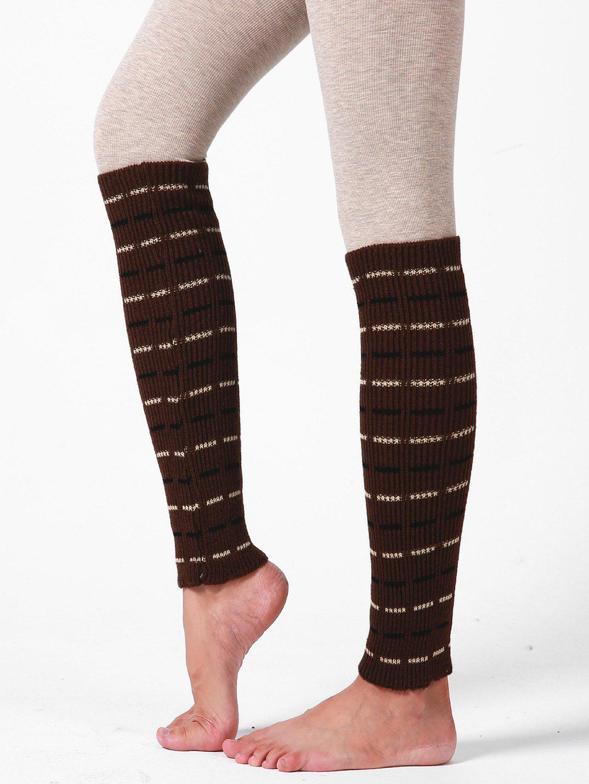 Outfit Woolen Yarn Striped Sleeve Socks
