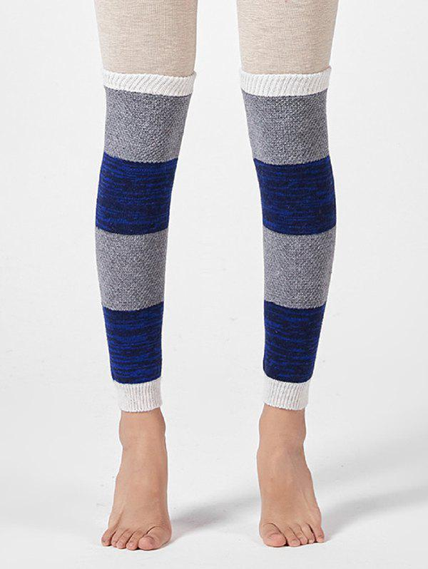 Fancy Colorblock Striped Knitted Over Knee Sleeve Socks
