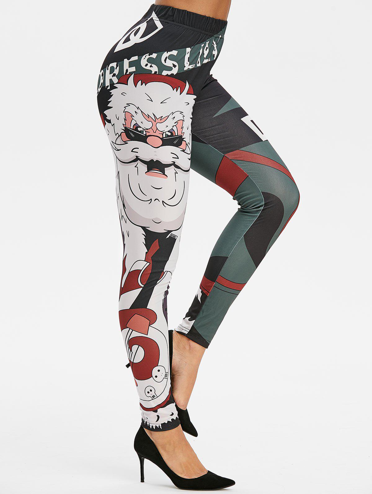 Hot High Rise Christmas Printed Skinny Leggings