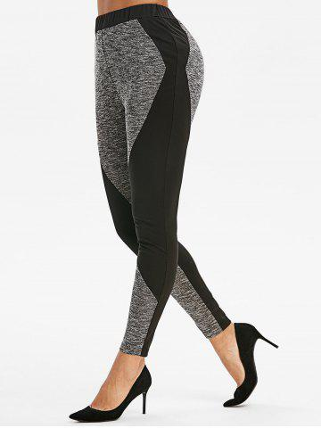 Two Tone Marled Gym Leggings