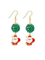 Christmas Santa Claus Sequin Ball Earrings -