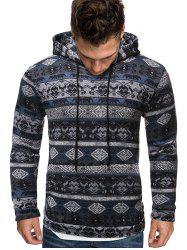 Tribal Printed Kangaroo Pocket Hoodie -