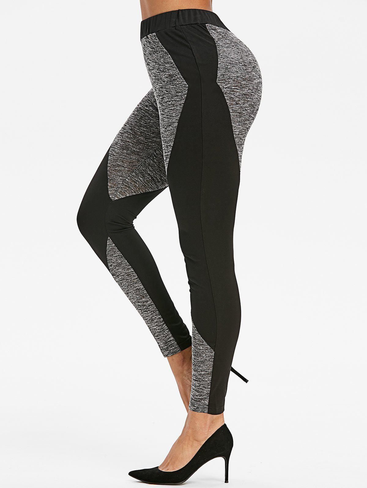 Online Two Tone Marled Gym Leggings