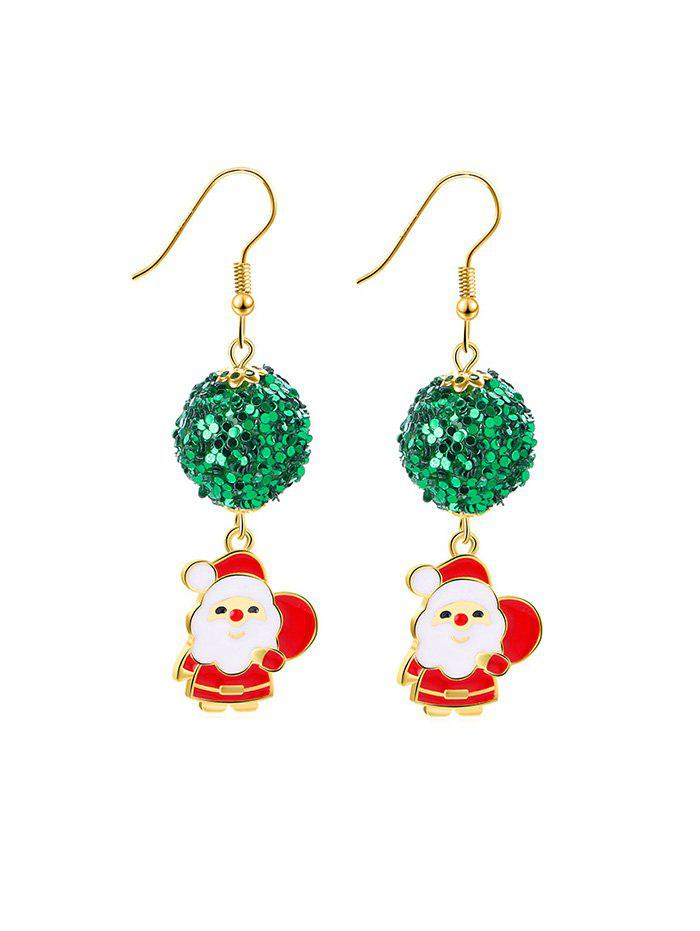 Buy Christmas Santa Claus Sequin Ball Earrings