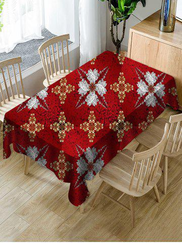 Abstract Floral Fabric Waterproof Table Cloth