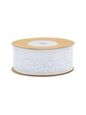 10 Meter Merry Christmas Snowflake Gift Decoration Ribbon