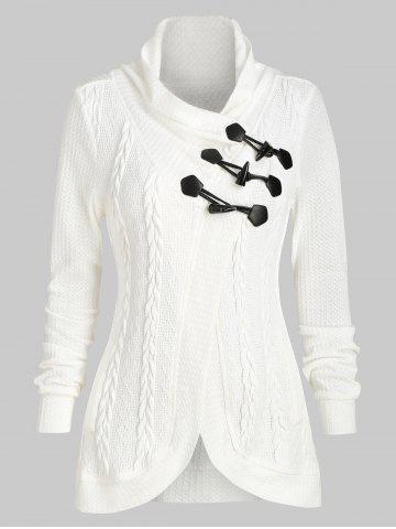 Casual Claw Button Cowl Neck Cardigan