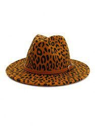 Vintage Leopard Belt Embellished Jazz Hat -