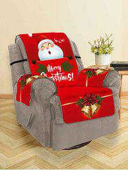 Christmas Bell Santa Claus Design Couch Cover -