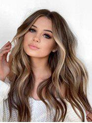 Long Colormix Middle Part Wavy Capless Synthetic Wig -