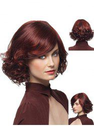 Medium Wavy Bob Synthetic Side Bang Wig -