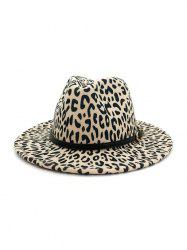 Leopard Belt Embellished Jazz Hat -
