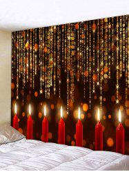 Christmas Candle Pattern Tapestry -