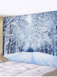 Snow Forest Road Print Tapestry Wall Hanging Art Decoration -