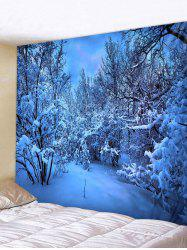 Snow Night Moon Pattern Tapestry -