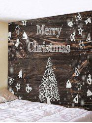 Christmas Tree Wood Grain Print Tapestry Wall Hanging Art Decoration -