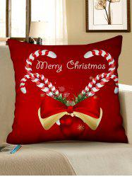 Christmas Pattern Design Polyester Pillow Cover -