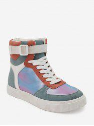 Color-blocking High Top Flat Skate Shoes -