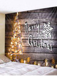 Christmas Tree Lights Print Tapestry Wall Hanging Art Decoration -